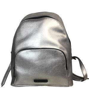 Kendall + Kylie Silver Vegan Leather Backpack